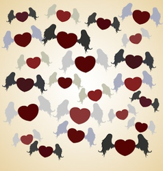 flying heart with wings vector image