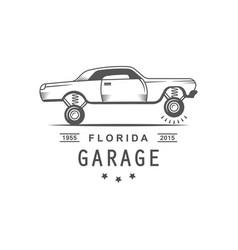 garage logotype vector image