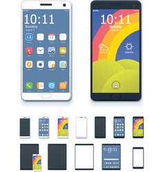 generic smartphones and tablet computers vector image
