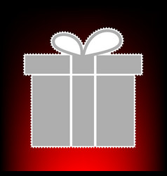 gift box style on vector image