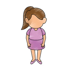 Girl stand up vector