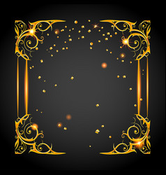 Gold holiday posh frame vector