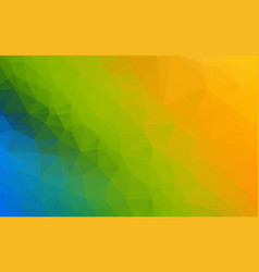green yellow blue triangle polygonal geometric vector image