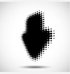 halftone arrow in perspective logo design element vector image