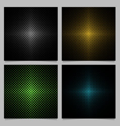 Halftone heart background pattern set vector