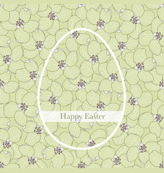 Happy easter greeting card or poster with an egg vector