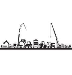 Heavy construction machinery vector