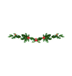 Holiday christmas decor vector
