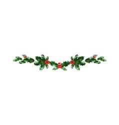 holiday christmas decor vector image