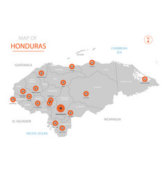 honduras map with administrative divisions vector image