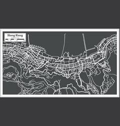 hong hong china city map in retro style vector image