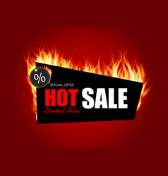Hot sale fire background template vector