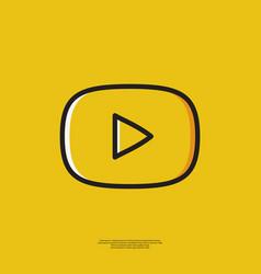 Icon play video vector
