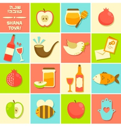 Icons for Rosh Hashanah vector