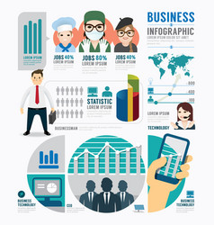 Infographic Business job template design concept vector image
