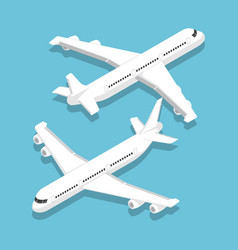 Isometric large passenger airplane vector