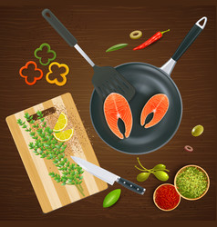 kitchen ware top view vector image