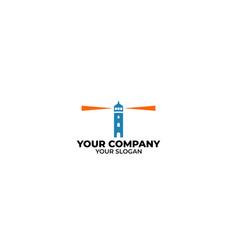 lighthouse i logo design vector image