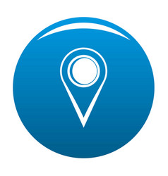 Location mark icon blue vector