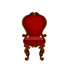 Luxury armchair for home interior wooden chair vector