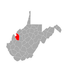 Map jackson in west virginia vector