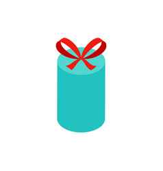 mint circle gift box isometric object vector image