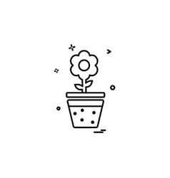 plant icon design vector image