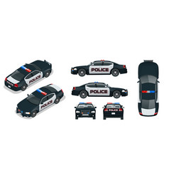 Police car with rooftop flashing lights vector