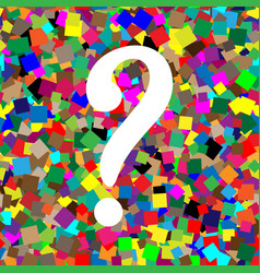 question mark sign white icon on colorful vector image