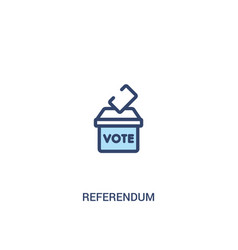 Referendum concept 2 colored icon simple line vector