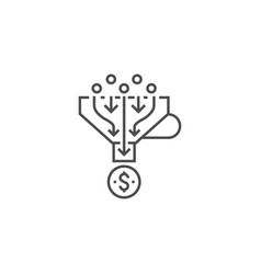 sales funnel line icon vector image