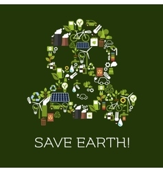 Save Earth Eco environment banner vector image