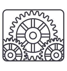 settings engine line icon sign vector image