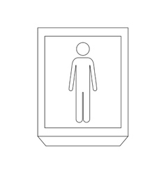 Silhouette rectangle contour person silhouette vector