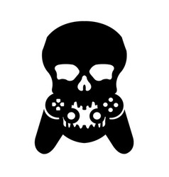 Skull game logo vector