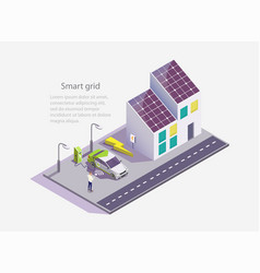 smart grid web site banner template vector image