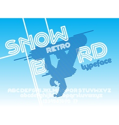 Snow board font vector image