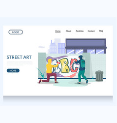 street art website landing page design vector image