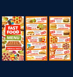 street fast food takeaway menu vector image