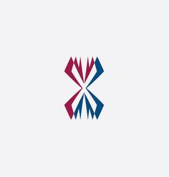 stylized x letter logotype symbol vector image