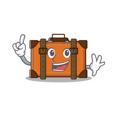Suitcase with in cartoon finger shape vector