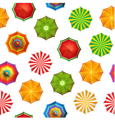 summer beach umbrellas pattern or vector image