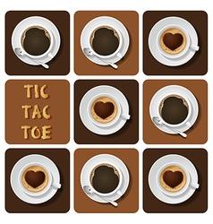 Tic-tac-toe of cappuccino and espresso vector