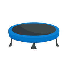 trampoline icon flat style vector image