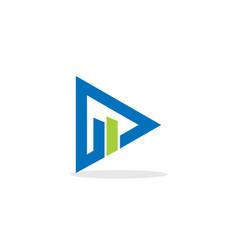 Triangle finance grow business logo vector