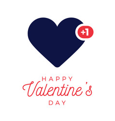 valentine blue heart like counter comment vector image