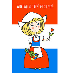Welcome to netherlands vector