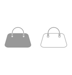 woman bag it is black icon vector image