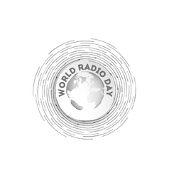world radio day icon vector image