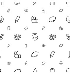 Yellow icons pattern seamless white background vector